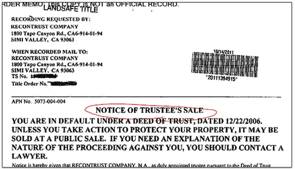 notice of default sample